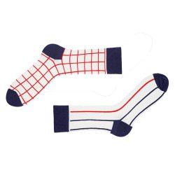 Носки мужские с принтом sammy icon grid 40-46 белые (009099)