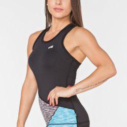 Женская спортивная майка radical reaction tank top l черно-синяя (r0850)