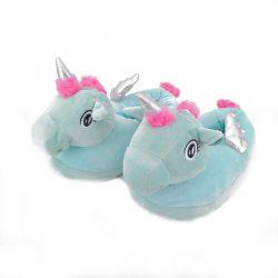 Женские тапочки-игрушки kronos top единороги с серебристыми крылышками размер 35-38 (stet_1255)