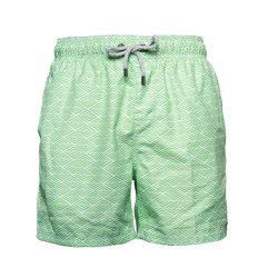 Мужские пляжные шорты islandhaze rhombus green l зеленый с белым (isl0028)