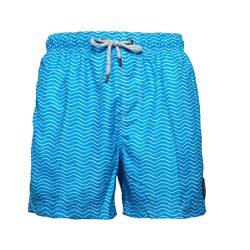 Мужские пляжные шорты islandhaze waves s синий с белым (isl0036)