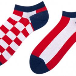 Мужские носки короткие sammy icon checker short 40-46 красно-белые (009547)