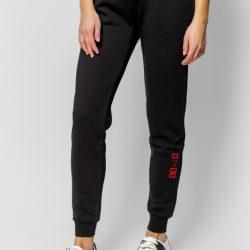 Спортивные штаны женские кокон 24:04 s черные (kjw 26.11.02_s/170)