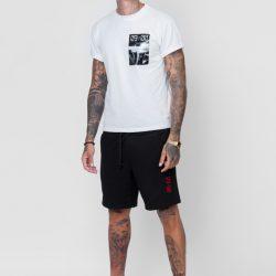 Спортивные шорты мужские кокон 24:04 l черные (kjm 28.01.02_l/176)