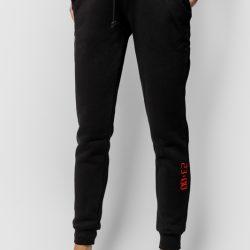 Спортивные штаны женские кокон 24:04 l черные (kjw 26.15.02_l/170)