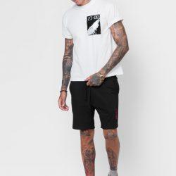Спортивные шорты мужские кокон 24:04 l черные (kjm 28.02.02_l/176)
