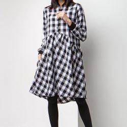 Платье-рубашка garne arina с широкой юбкой и трикотажными манжетами s/m черно-белый (3035013)