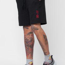 Спортивные шорты мужские кокон 24:04 l черные (kjm 28.05.02_l/176)