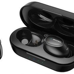 Наушники awei t16 tws bluetooth earphones black (103700)