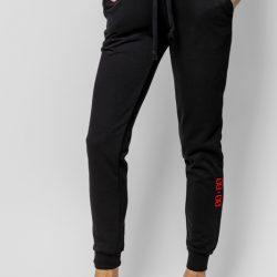 Спортивные штаны женские кокон 24:04 s черные (kjw 26.22.02_s/170)