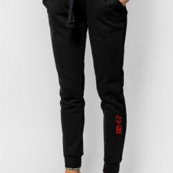 Спортивные штаны женские кокон 24:04 l черные (kjw 26.25.02_l/170)