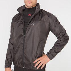 Мужская ветровка-дождевик с капюшоном radical flurry l черный (r0526)