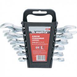 Набор ключей рожковых мтх 6-17 мм 6 штук crv хромированные (152319)