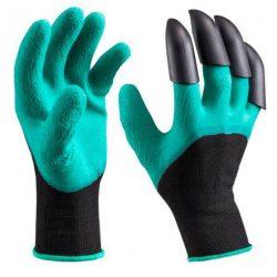 Перчатки для сада и огорода с когтями garden genie gloves (0030)