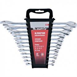 Набор ключей комбинированных mtx 6-22 мм 12 штук crv полированный хром (154269)