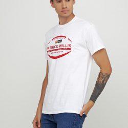 Мужская футболка gildan с рисунком белая (1313337)
