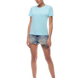 Женская однотонная футболка svtr (60)
