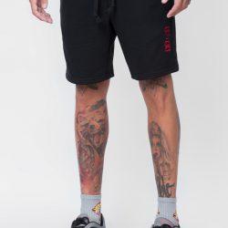 Спортивные шорты мужские кокон 24:04 l черные (kjm 28.03.02_l/176)
