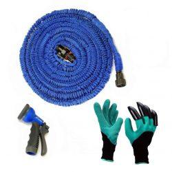 Садовый шланг x-hose для полива 30м + перчатки садовые с когтями skl11 (36-238810)