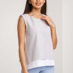 Блуза garne polina s белый с черным (3035136)