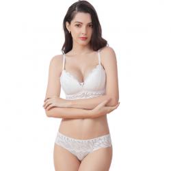 Комплект женского нижнего белья lux4ika размер 80в классический с нежным кружевами белый (n-557)
