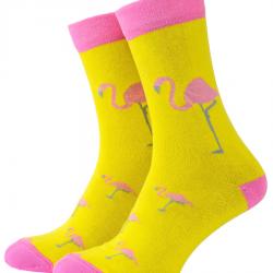 Носки с принтом мужские mushka flamingo flm001 41-45 желтые (009491)