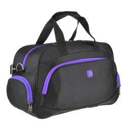 Дорожная сумка tong scheng 48x29x20 см черная с фиолетовым (кс99912чф)