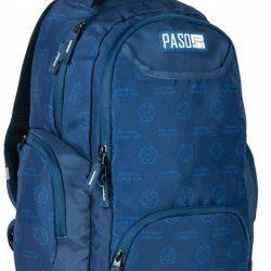 Молодежный рюкзак paso 22 л синий (17-2908un)
