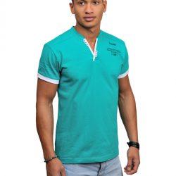 Мужская футболка svtr 48 бирюзово-белый (105)