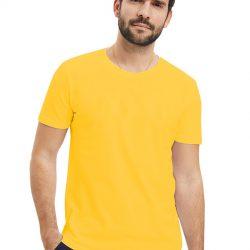 Однотонная футболка svtr 48 желтый