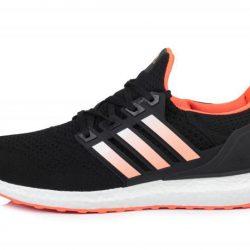 Мужские кроссовки adidas ultra boost black orange размер (ua_drop_116626)