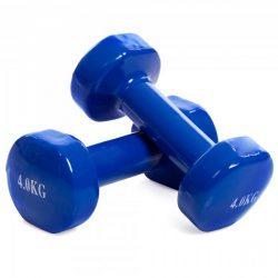 Гантели для фитнеса с виниловым покрытием sp-planeta радуга ta-0001-4-b blue (us00232)