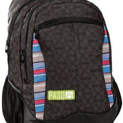Рюкзак городской paso коричневый (18-2808mk)