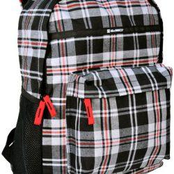 Рюкзак paso в клетку 18 л серый (14-016b)