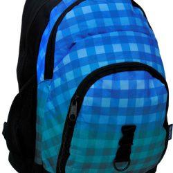 Рюкзак paso в клетку 33 л синий/серый (14-1208c)