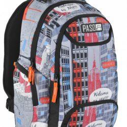 Молодежный рюкзак paso 22 л разноцветный (17-2908uy)