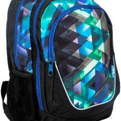 Рюкзак paso с принтом 21 л черный/синий (15-367e)