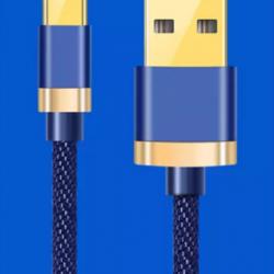 Кабель зарядки type c – usb 2.4a 1 м синий (hub_lpxh31429)