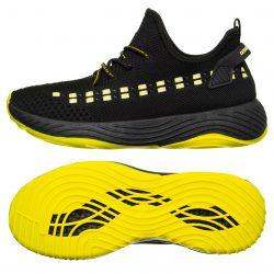 Чоловічі кросівки marlen 42-45 black-yellow (m03_42)