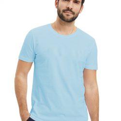 Однотонная футболка svtr 48-54 голубой (58 48 голубой)