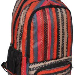 Рюкзак paso в полоску 21 л красный (15-8122d)