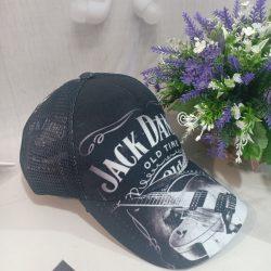 Бейсболка jack daniels 54-58 черно-белая (0000416)
