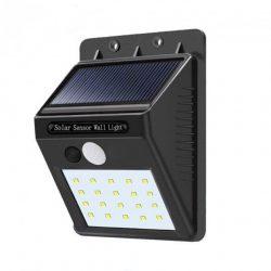 Уличный led фонарь solar motion sensor light на солнечной батарее с датчиком движения 20 led черный (258539)