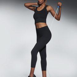 Женские спортивные леггинсы bas bleu forcefit 70 s черный (bb0058)