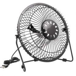 Настольный usb вентилятор 20 см черный (a-fan-004)