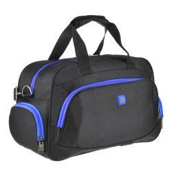 Дорожная сумка tong scheng 48x29x20 см черно-голубая (кс99912чгол)