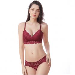 Комплект женского нижнего белья lux4ika размер 80в классический с нежным кружевами красный (n-555)