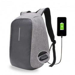 Рюкзак антивор bobby с защитой с usb серый реплика (258607)
