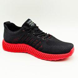 Кроссовки мужские ideal n60 100327 27 см черный с красным