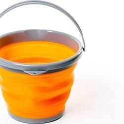 Ведро складное силиконовое tramp 10 л trc-091 оранжевое (gr_008774)